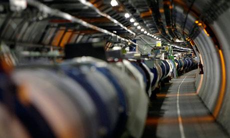 The Large Hadron Collider at Cern, near Geneva